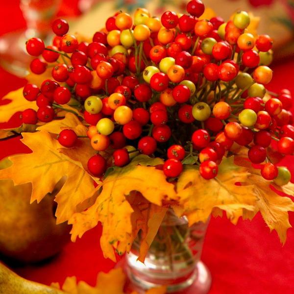 Букеты из листьев #10