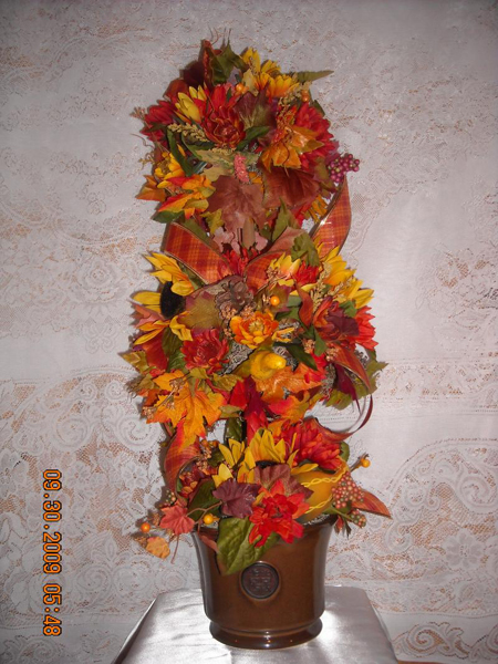 Поделки осени из цветов