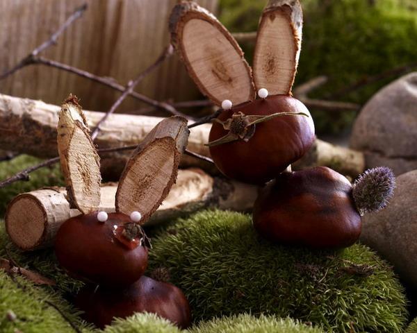 Поделки из природного материала на тему осень из шишек жики.