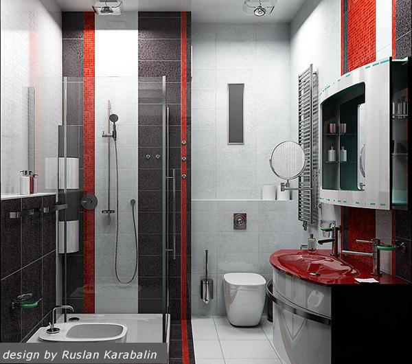 Интерьер ванной фото в черно-белом цвете