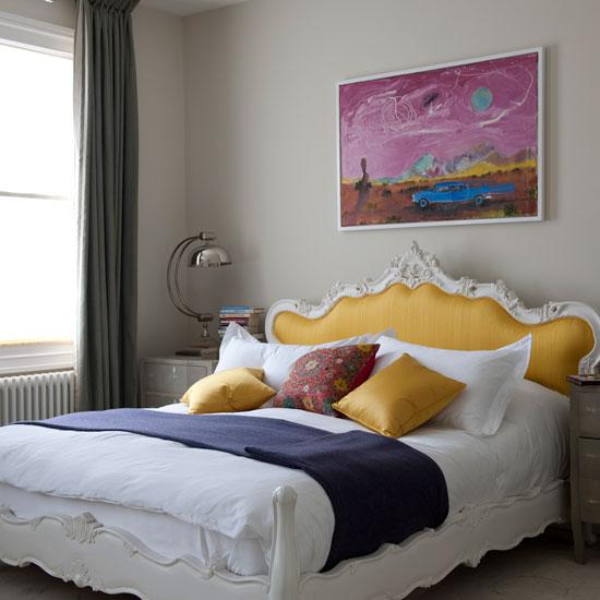 Янтарный берег желтый цвет в спальне
