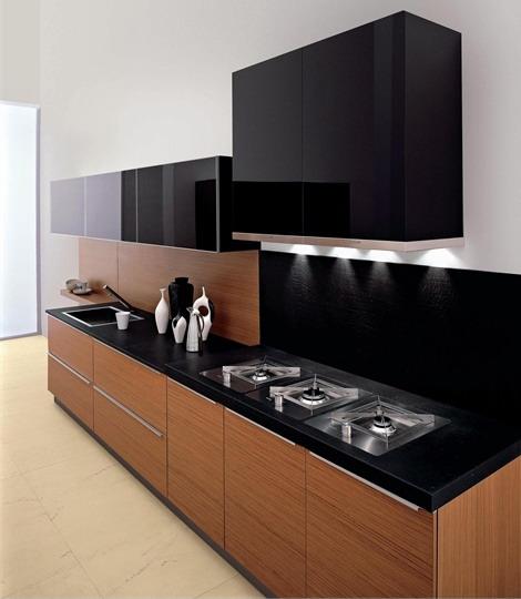Элегантный черный цвет в интерьере кухни: важные правила