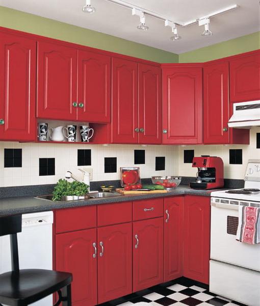 Шахматная черно-белая плитка на полу в кухне: 60 примеров