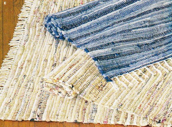 Плетеный коврик из джинс своими руками