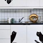 Домашняя котоматрица: наклейки с кошками и котами, Домашняя котоматрица, трафареты кошек, изображение кошек в интерьере,  как украсить интерьер кошками изображениями силуэтами кошек