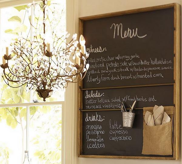 Грифельная доска для кухни своими руками