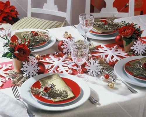 Как красиво украсить стол на новый год своими руками