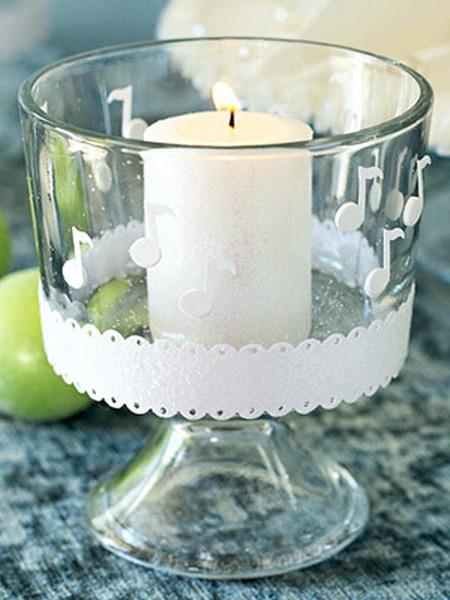 Подсвечник для тонких свечей своими руками