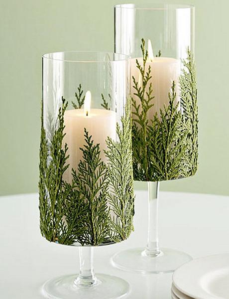Как сделать новогоднюю свечу своими руками