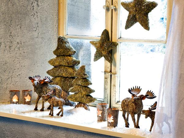 Dom swiateczne dekoracje na okna duzo inspiracji - Weihnachtsdeko fensterbank ...
