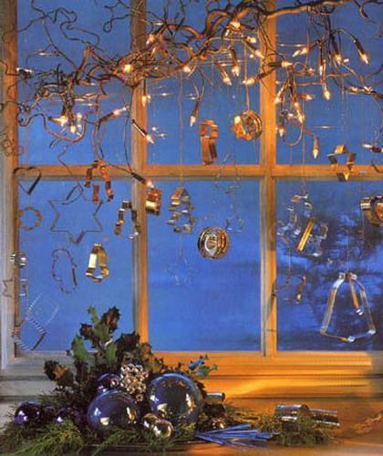 Бумажные украшения на окна своими руками