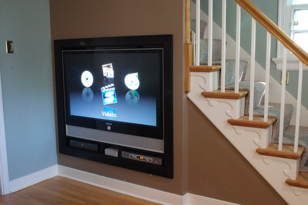Дизайн места под телевизор