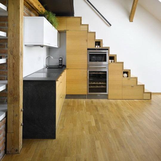 Как сделать из кухни лестницу 59