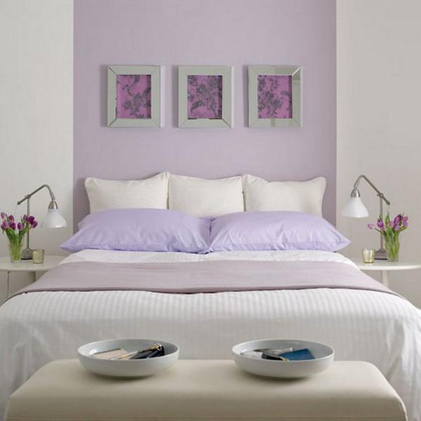 Спальня в лиловых тонах для наскучивших друг другу.
