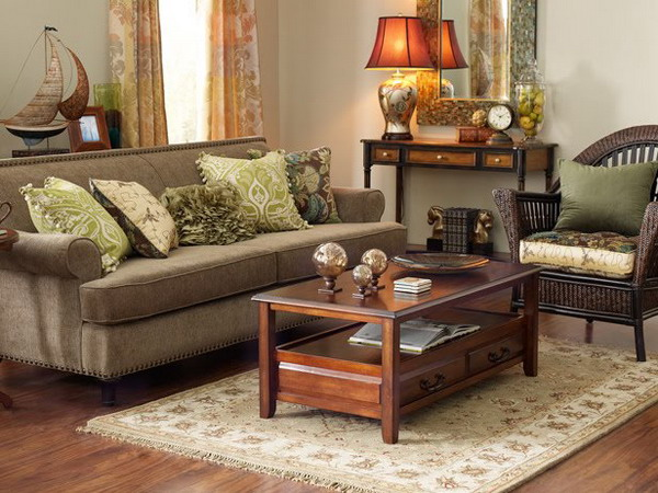 for Brown and green living room decorating ideas