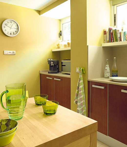кухня Combo-green-and-brown-kitchen9