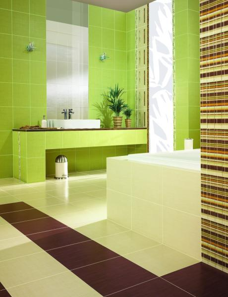 for Brown and green bathroom designs