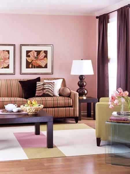 Цвет к розовому в интерьере