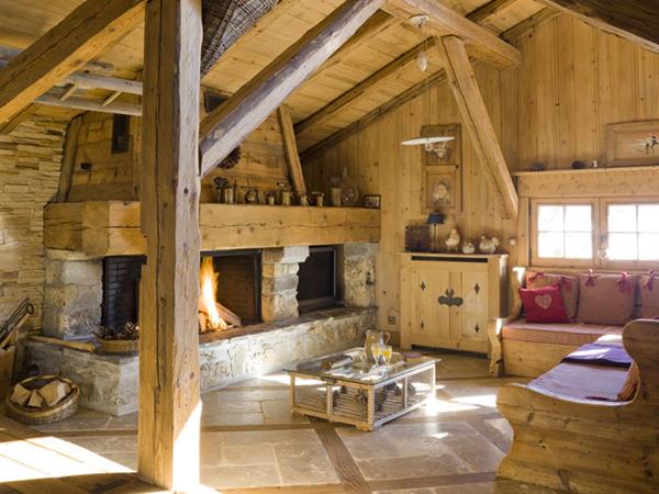 """Интерьер одного из кантри стилей:  """"шале """" - стиль традиционного дома в..."""