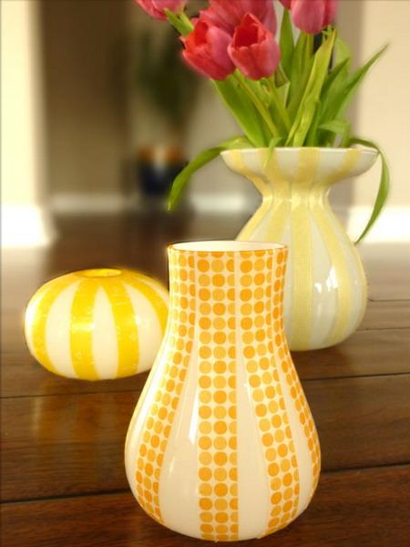 Декор керамической вазы своими руками
