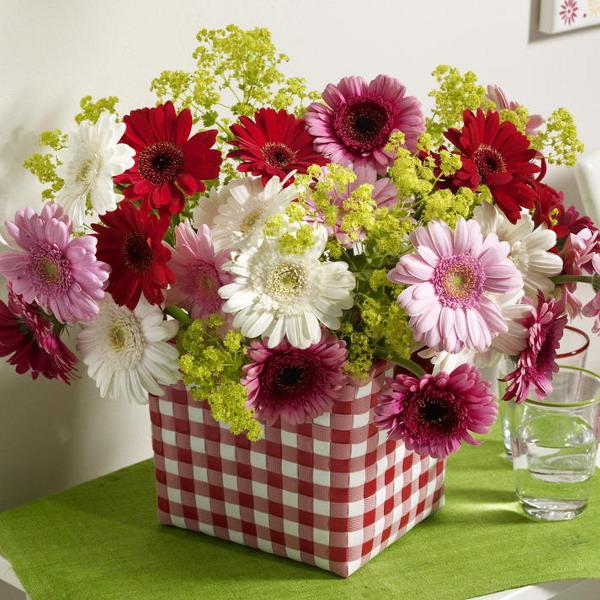 Своими руками вазы с цветами из ткани