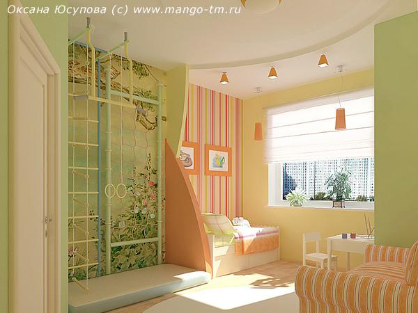 стены в детской комнате комбинируем обои рисунки оттенки