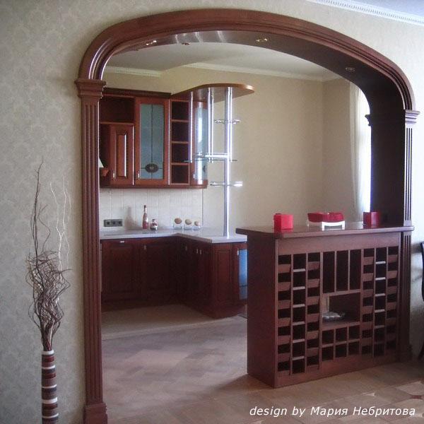 Арки из гипсокартона фото дизайн интерьера на кухню