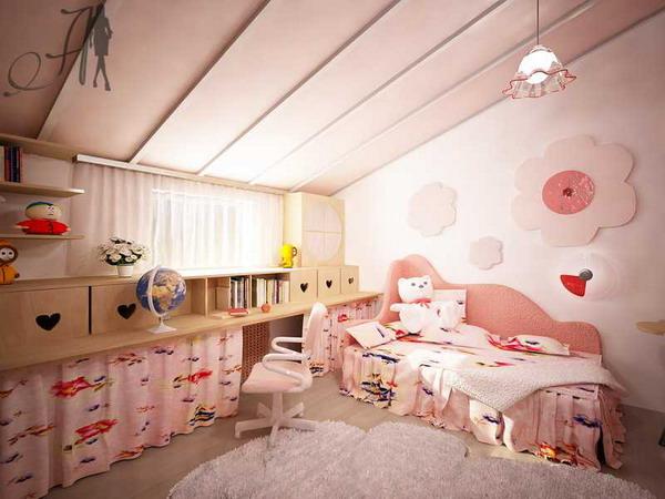 """2 проекта детской комнаты в мансарде от компании  """"Архитектура и Дизайн """""""