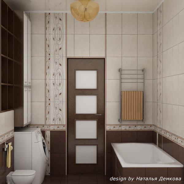 Плитка в ванную комнату дизайн фото коричневая