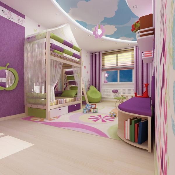 Дизайн интерьеров детских комнат для двух детей
