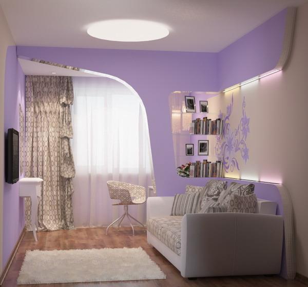 Дизайн маленьких комнат с диваном