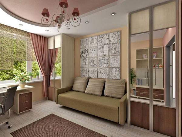 Интерьер комнаты 3х4 фото
