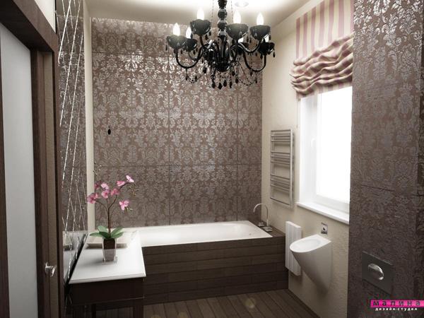 ванные в стиле ар-деко.