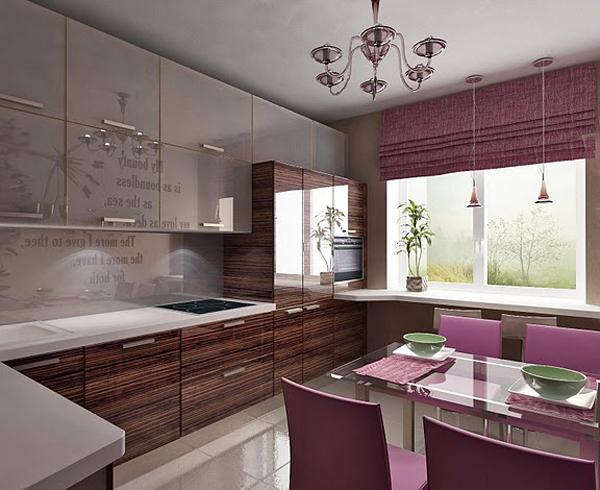 Интерьер кухни столовой цвет декор и