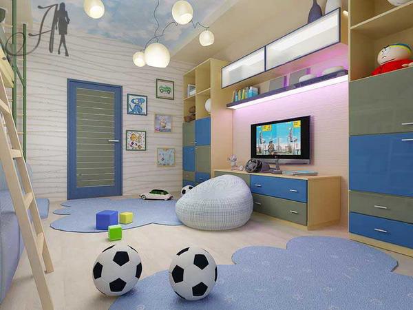 Фото ремонта детской комнаты для мальчика подростка 107