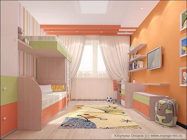проект детской комнаты для