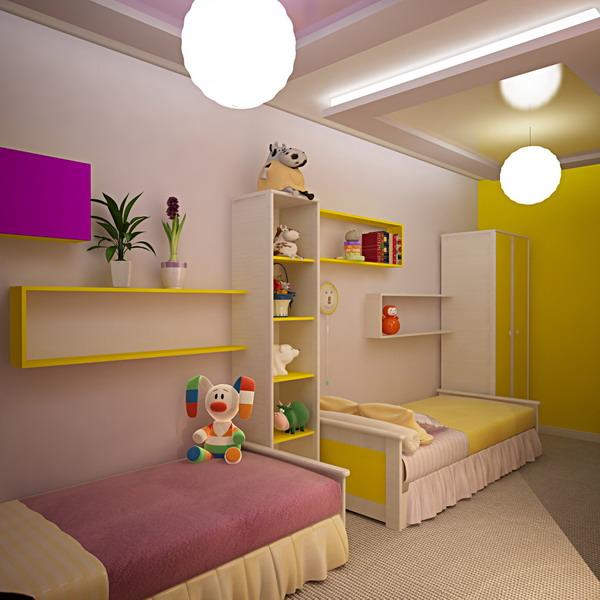 Спальня на двоих детей дизайн 20