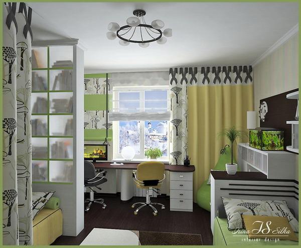 2 проекта детской комнаты для двоих детей от компании Азбука ремонта.
