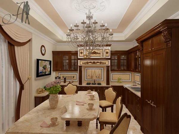 Кухня в классическом стиле: планировка, детали, материалы, д.