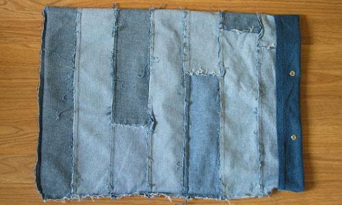 как сшить детскую сумку из старых джинсов.