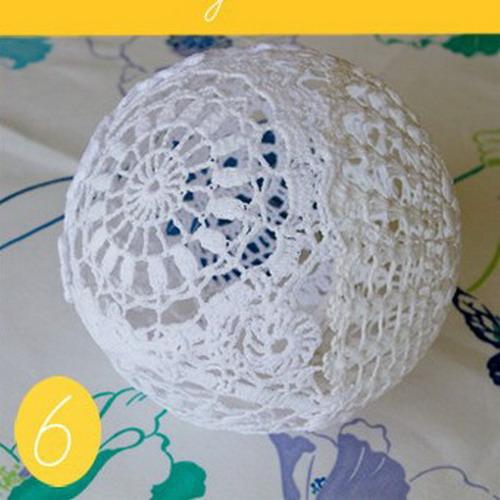 Кружевной шар своими руками