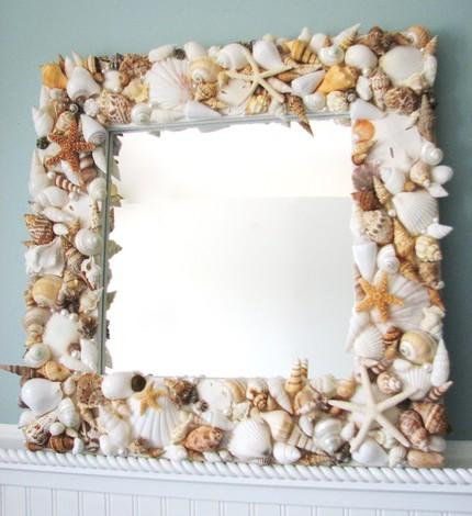 Декор рамки для фото из ракушек