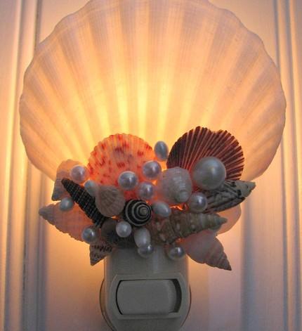Поделки из ракушек светильники 68