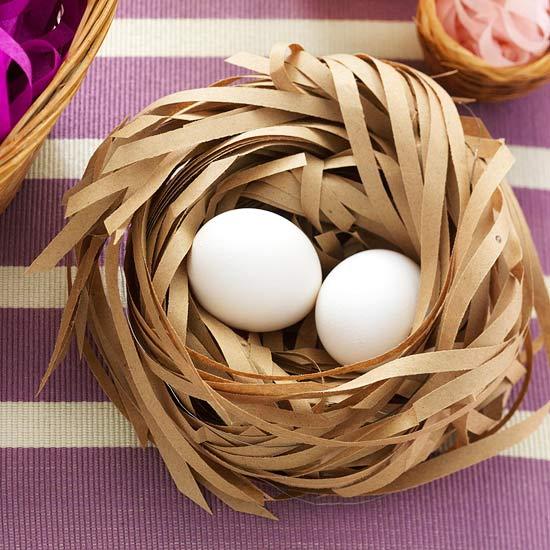 Гнездо своими руками поделка из бумаги