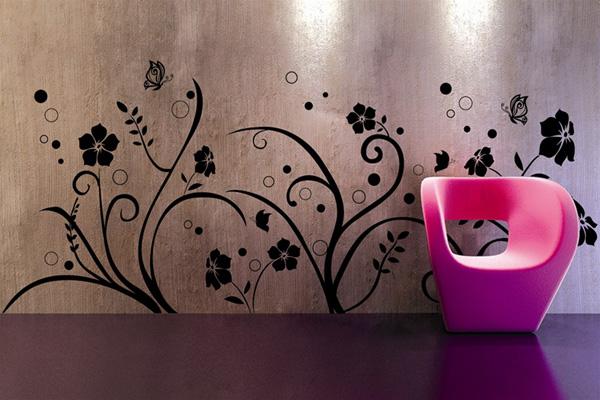 Рисунок на стене дома своими руками фото