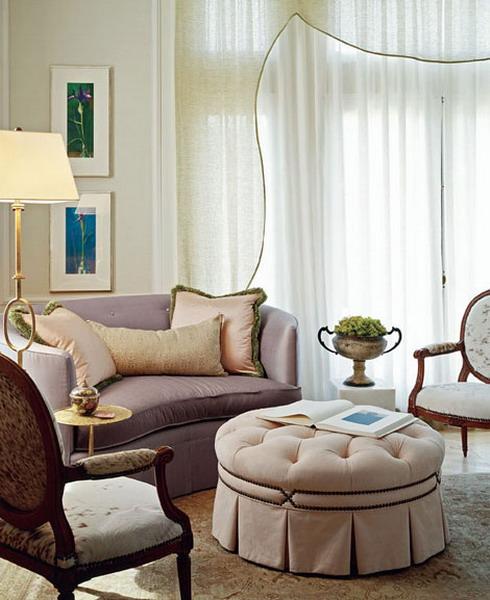 интерьеры гостиных и столовых в элегантном французском стиле.
