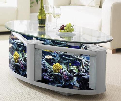 Столик своими руками с аквариумом