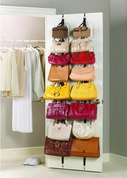 Творческие идеи для хранения сумок.