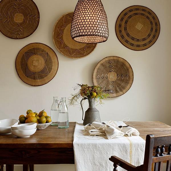 Декор свободной стены на кухне