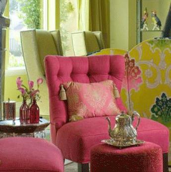 Оттенки розового в интерьере